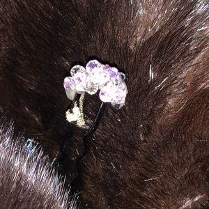 Designer Colette Malouf Hair Stick Pin...Amethyst